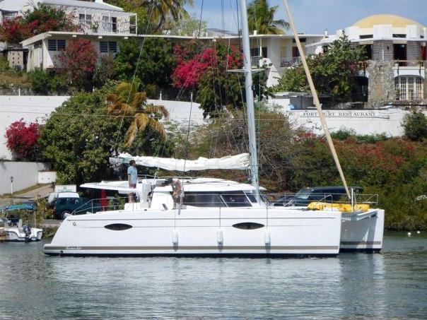 Arrival in Tortola