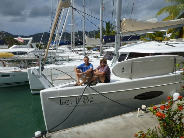 March 8th, arrived in Tortola and were able to board Let It Be.