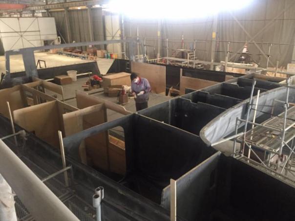 5503 Most bulkheats installation complete